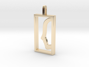 Independent  in 14k Gold Plated Brass: Medium