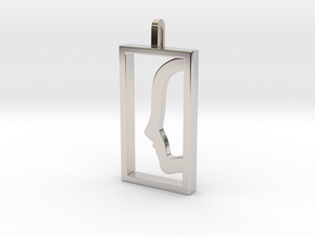 Independent  in Rhodium Plated Brass: Large
