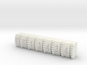 Hengstler Counter Number Roller TK13434 in White Natural Versatile Plastic