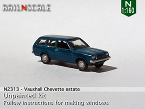 Vauxhall Chevette estate (N 1:160) in Smooth Fine Detail Plastic