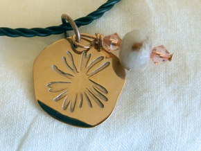 Aster Medallion in 14k Rose Gold Plated Brass: Medium