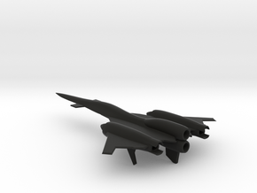 XF-0181 Crane Interceptor Aircraft in Black Natural Versatile Plastic: 6mm