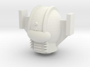 Phobos Red Armtron Head in White Natural Versatile Plastic