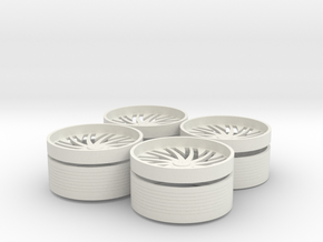 Floater Base-and-rings in White Natural Versatile Plastic