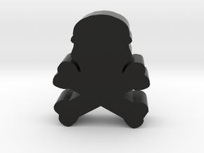 Game Piece, Skull and Bones in Black Natural Versatile Plastic