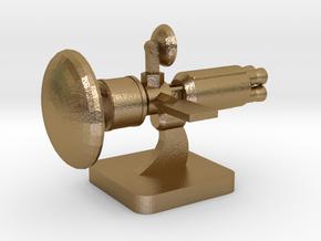 Mini Space Program, Interplanetary Ship 6 in Polished Gold Steel