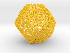 Mini geodesic dome planter in Yellow Processed Versatile Plastic