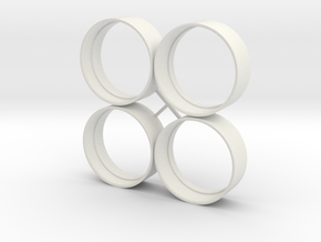 Base 28 rings in White Natural Versatile Plastic
