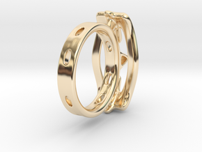Abstract curved Ring in 14K Yellow Gold: 7 / 54