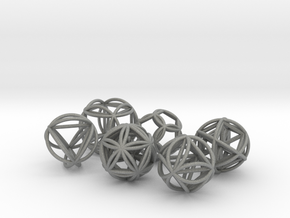 Metatronic Spheres w/ Nested Metatronic Solids in Gray Professional Plastic