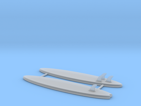 1/64 Scale Surfboards  in Smoothest Fine Detail Plastic