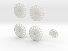 28 AF 20 Spoke 26.2 in White Natural Versatile Plastic
