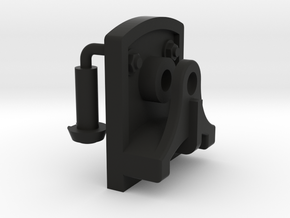 Signal Semaphore Lever Bracket w/ Bolts 1:19 scale in Black Natural Versatile Plastic