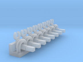 Minitrix 2-10-0 & 4-6-2 Eccentric Rod Pegs N Scale in Smooth Fine Detail Plastic