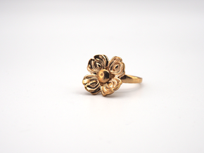 Floral Spinner Ring in Natural Bronze (Interlocking Parts): 5 / 49