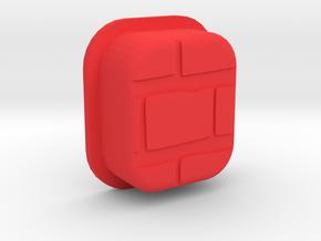 PRNT3D [BRCK3D] Mech Squonk Button in Red Processed Versatile Plastic