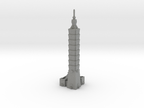 Taipei 101 - Taipei (1:4000) in Gray PA12