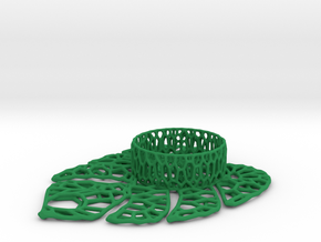 Tealight holder in Green Processed Versatile Plastic