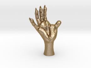 3 inch Opossum Foot- Plastics & metals in Polished Gold Steel