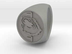 custom signet ring 89 in Gray Professional Plastic