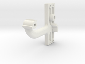 Signal Semaphore Arm (Short) no bolts 1:19 scale in White Natural Versatile Plastic