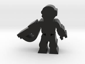 Game Piece, Killer Robot, standing, rifle in Black Natural Versatile Plastic