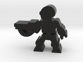 Game Piece, Killer Robot, attack, rifle in Black Natural Versatile Plastic