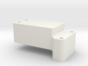 Rear B6.1 Transmission Riser in White Natural Versatile Plastic