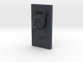 BulldogCat Caricature (001) in Black Professional Plastic