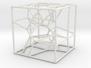 Vorocube in White Natural Versatile Plastic