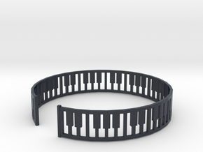 simple piano frame cuff in Black PA12: Medium