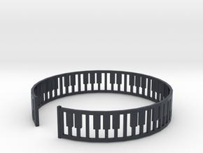 simple piano frame cuff in Black PA12: Medium