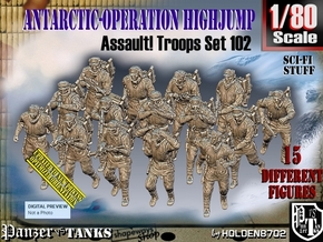 1/80 Antarctic Troops Set102 in Smooth Fine Detail Plastic