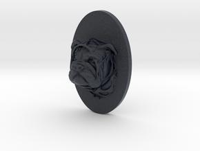 Bulldog Face + Half-Voronoi Mask (001) in Black PA12