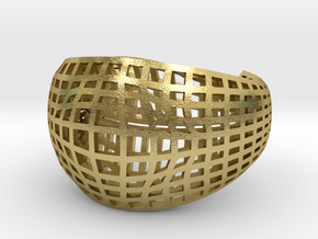 Neo Geometricism* Bangle ( Large ) in Natural Brass