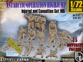 1/72 Antarctic Troops Set105 in Smooth Fine Detail Plastic