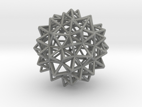 Stellated Rhombicosidodecahedron in Gray Professional Plastic