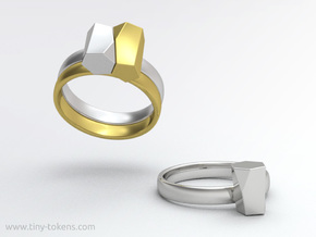 Scutoid Packing Ring  in Polished Brass: 6.5 / 52.75