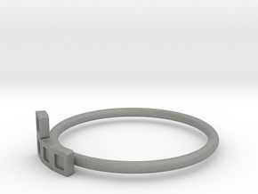 Block Puzzle Ring (Type-L) in Gray Professional Plastic