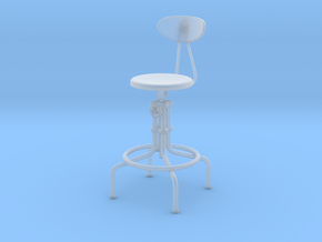 Miniature Isaac Counter Stool - The Furnish in Smooth Fine Detail Plastic: 1:12