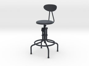 Miniature Isaac Counter Stool - The Furnish in Black Professional Plastic: 1:12