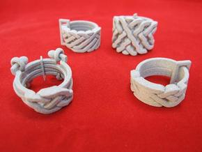 Ring set 2   Weave-Six   Cross-Rings   Holistic-Ri in Metallic Plastic
