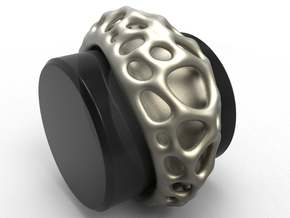 Bubble Ring No.1 in Polished Bronzed Silver Steel