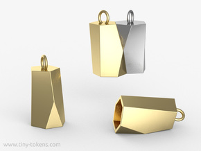 Scutoid Pendant - Version 2 (hollow) in Polished Brass