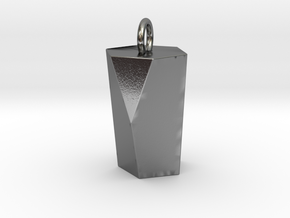 Scutoid Pendant - Version 1 (hollow) in Polished Silver