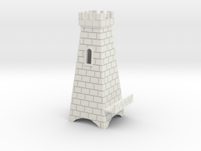 phone stand Tower in White Natural Versatile Plastic