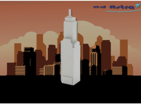 Willoughby Tower - Chicago (1:4000) in White Natural Versatile Plastic