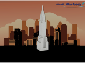 Chrysler Building - New York (1:4000) in White Natural Versatile Plastic