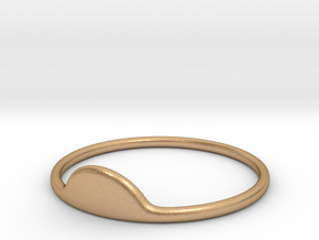 Half-Moon Ring in Natural Bronze