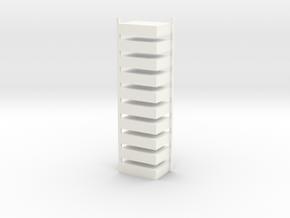 klankkast enkel 10 st in White Processed Versatile Plastic